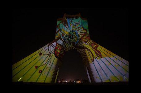 پرواز نور و قلم بر فراز برج آزادی
